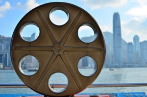 …and the giant film reel...